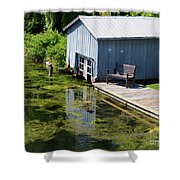 Westport Harbour In Southern Ontario Shower Curtain