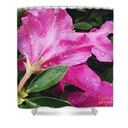 Wet Blooms Shower Curtain