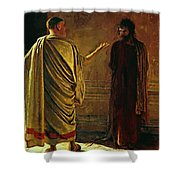 What Is Truth Christ And Pilate Shower Curtain