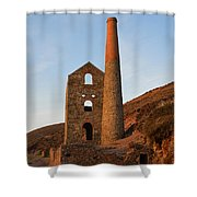 Wheal Coates Mine Chapel Porth Cornwall Shower Curtain