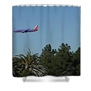 Wheels Down Shower Curtain