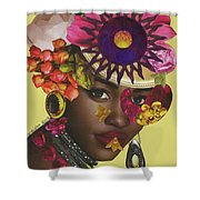 When African Eyes Are Smiling Shower Curtain