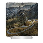 When You Get To The Top Shower Curtain by Jaroslaw Blaminsky