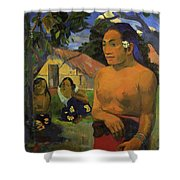 Where Are You Going 1892 Shower Curtain