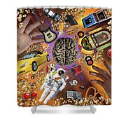 Where Is My Mind? Shower Curtain