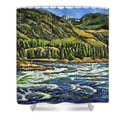 Where Waters Meet 3 Shower Curtain