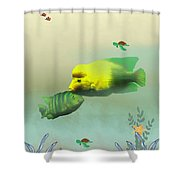 Whimsical Fish Shower Curtain