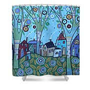 Whimsy Viilage Shower Curtain
