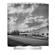 White Bear Island Marine Shower Curtain