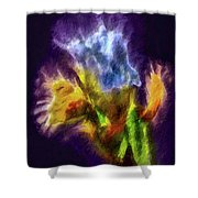 White Lily Bud #i0 Shower Curtain by Leif Sohlman