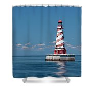 White Shoal Lighthouse 20 Shower Curtain