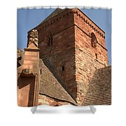 Whitekirk 12th Century Church Tower In East Lothian Shower Curtain