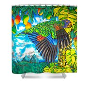 Wild Parrot Shower Curtain