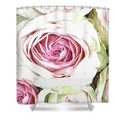 Wild Pink Roses Shower Curtain