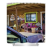 Wild West Hot Dog Place Shower Curtain