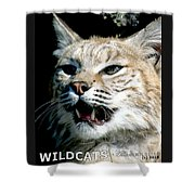 Wildcats Mascot 2 Shower Curtain