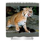 Wildcats Mascot 3 Shower Curtain