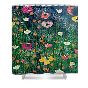 Wildflowers 2- Art By Linda Woods Shower Curtain