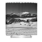 Wilson Mesa Winter Portrait Shower Curtain