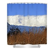 Wind Blows Over The Kenai Mountains Alaska Shower Curtain