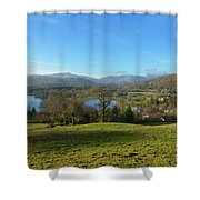 Windermere With Loughrigg Fell And The Langdales From Ambleside Shower Curtain