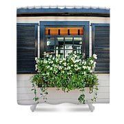 Window Full Of Flowers Shower Curtain