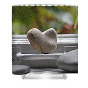Window Hearts 2 Shower Curtain