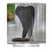 Window Hearts 4 Shower Curtain