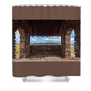 Window View - Ccc Lookout- Cedar Breaks - Utah Shower Curtain