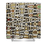 Wine Corks At An Angle Abstract Shower Curtain