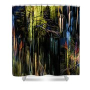 Wings Flying Out Of Time Shower Curtain