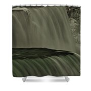American Falls In Winter, New York Shower Curtain