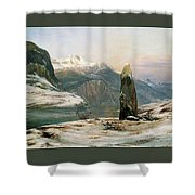 Winter At The Sognefjord - Digital Remastered Edition Shower Curtain
