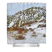 Winter Badlands Shower Curtain