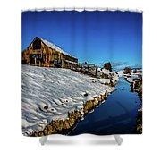 Winter Contrast Shower Curtain