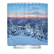 Winter Light, Mountain Views Shower Curtain by Jeff Sinon
