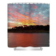 Winter Morning Sky Shower Curtain