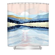 Winter Reflection Shower Curtain