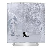 Winter Solstice Holiday Card Shower Curtain