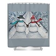 Winter Stroll Shower Curtain