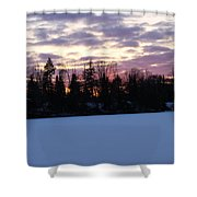 Winter Sunsets Shower Curtain