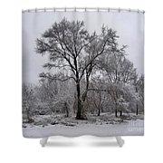 Winter Survivor Shower Curtain