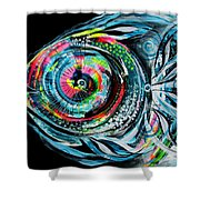 Winter Tail Just Chillin Shower Curtain