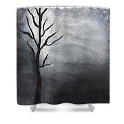 Winter Tree At Night.  Shower Curtain
