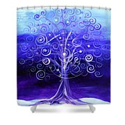 Winter Tree One Shower Curtain