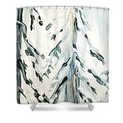 Winter Trees #4 Shower Curtain by Maria Langgle