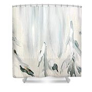 Winter Trees And Sky Shower Curtain