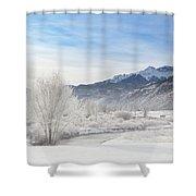 Winter Wonderland Below Whitehouse Mountain Shower Curtain
