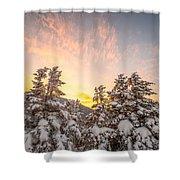 Winter's Last Light, Shower Curtain by Jeff Sinon