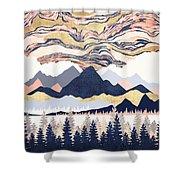 Winter's Sky Shower Curtain